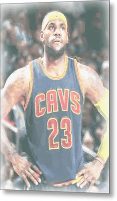 Cleveland Cavaliers Lebron James 5 Metal Print by Joe Hamilton