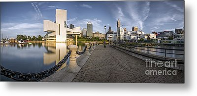 Cleveland Panorama Metal Print by James Dean