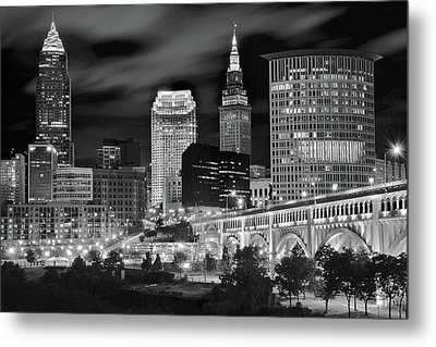 Charcoal Night  Metal Print by Frozen in Time Fine Art Photography