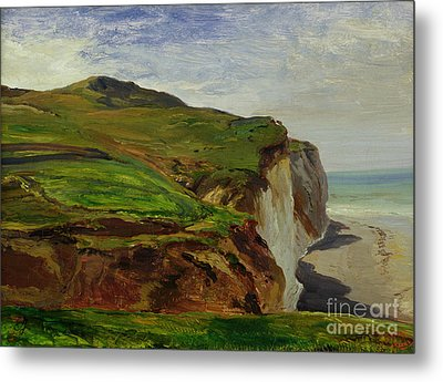 Cliffs Metal Print by Louis Eugene Gabriel Isabey