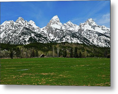 Climbers Ranch In Spring Metal Print by Greg Norrell