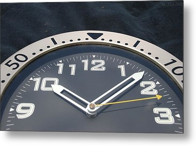Clock Face Metal Print by Rob Hans