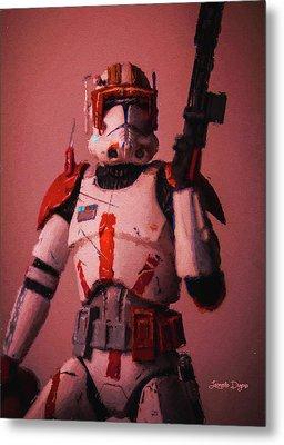 Clone Commander Cody - Free Style Metal Print by Leonardo Digenio