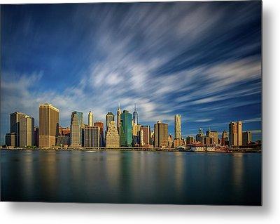 Clouds Over New York Metal Print by Rick Berk