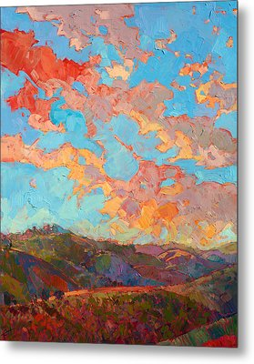 Clouds Over Paso Metal Print by Erin Hanson