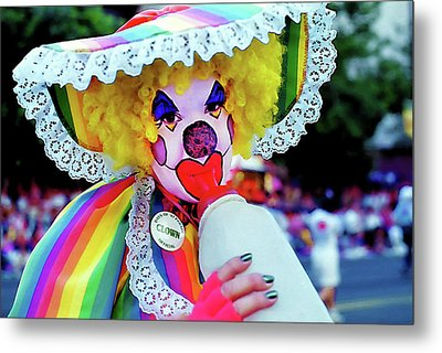 Clown 2 - Pioneer Day Parade  Metal Print by Steve Ohlsen
