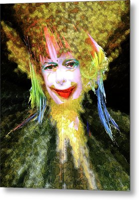 Clown Metal Print by Robert Sloan