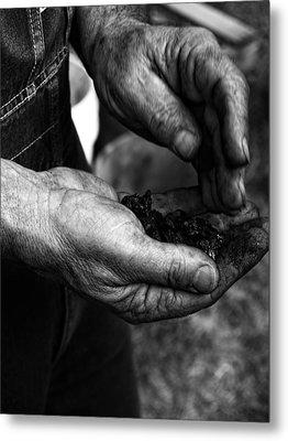 Coal Hands Metal Print by Brian Mollenkopf