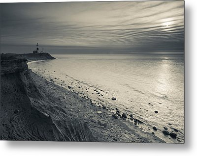 Coast With A Lighthouse Metal Print by Panoramic Images