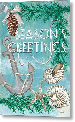 Coastal Christmas Card Metal Print by Debbie DeWitt