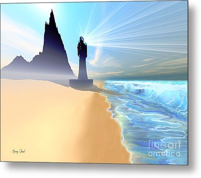 Coastline Metal Print by Corey Ford