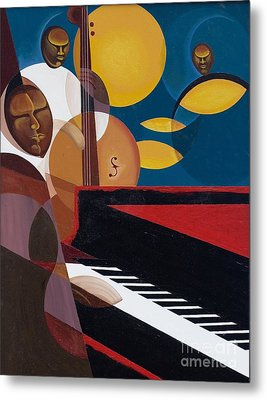 Cobalt Jazz Metal Print by Kaaria Mucherera