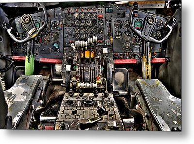 Cockpit Controls Hdr Metal Print by Kevin Munro