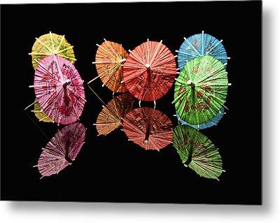 Cocktail Umbrellas II Metal Print by Tom Mc Nemar