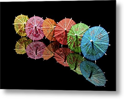 Cocktail Umbrellas IIi Metal Print by Tom Mc Nemar