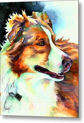 Cocoa Lassie Collie Dog Metal Print by Christy  Freeman