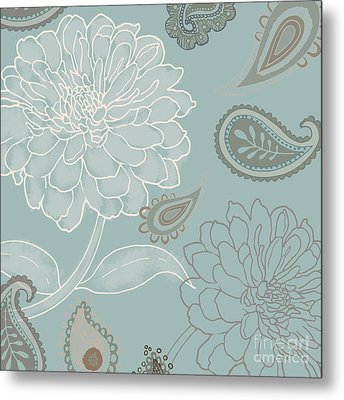 Cocoa Paisley Iv Metal Print by Mindy Sommers