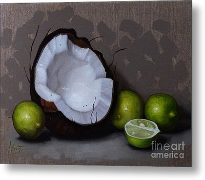 Coconut And Key Limes V Metal Print by Clinton Hobart
