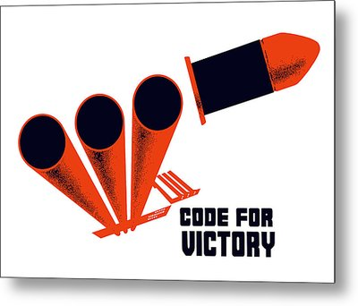 Code For Victory - Ww2 Metal Print by War Is Hell Store