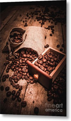 Coffee Bean Art Metal Print by Jorgo Photography - Wall Art Gallery