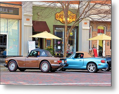 Coffee Break Metal Print by Jan Amiss Photography