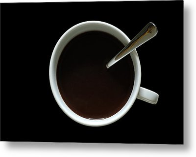 Coffee Cup Metal Print by Frank Tschakert
