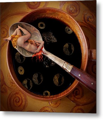 Coffee For Mister Klimt Metal Print by Floriana Barbu