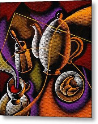 Coffee Metal Print by Leon Zernitsky