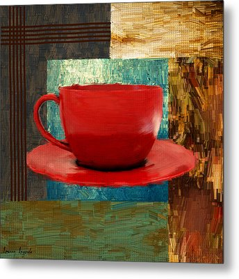 Coffee Lover Metal Print by Lourry Legarde