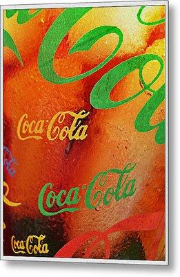 Coke Bubbles Metal Print by Kevin D Davis