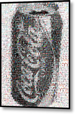 Coke Can Mosaic Metal Print by Paul Van Scott