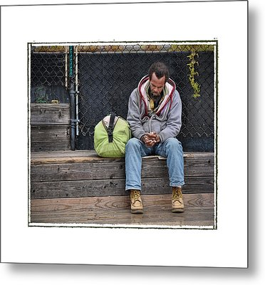 Cold And Alone No Comfort In Sight .... Metal Print by Bob Kramer