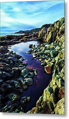 Cold Morning At Cutler Coast Metal Print by Bill Caldwell -        ABeautifulSky Photography