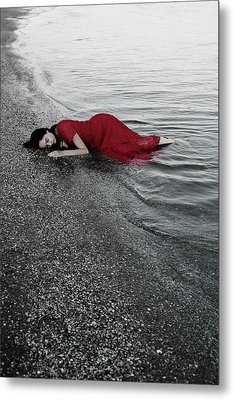 Cold Waves II Metal Print by Cambion Art