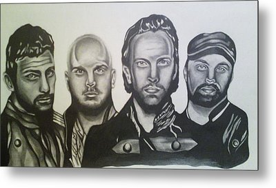 Coldplay Metal Print by Pauline Murphy