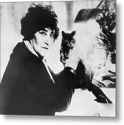 Colette 1873-1954 As The Most Honored Metal Print by Everett