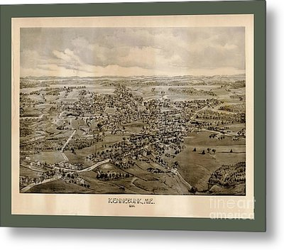 Collectable And Rare Map Of Kennebunkport Maine Metal Print by Pd