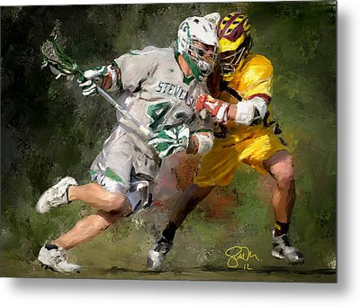 College Lacrosse 8 Metal Print by Scott Melby