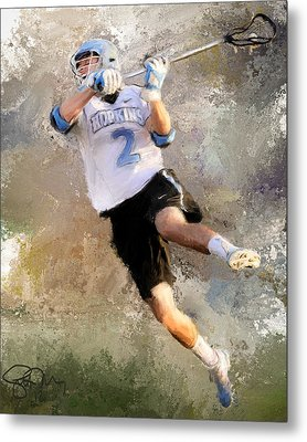College Lacrosse Shot 2 Metal Print by Scott Melby