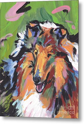 Collie Folly Metal Print by Lea S