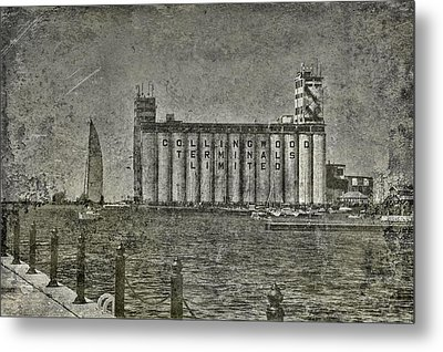 Collingwood Harbor And Terminal Building Metal Print by Andrea Kollo