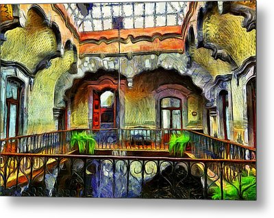 Colonial Interior Metal Print by Jean-Marc Lacombe