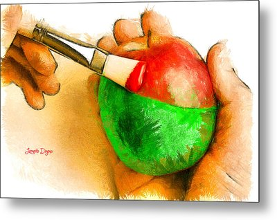 Color Apple Metal Print by Leonardo Digenio