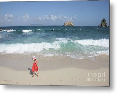 Color On The Beach  Metal Print by Clay Cofer