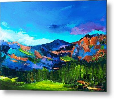 Colorado Hills Metal Print by Elise Palmigiani