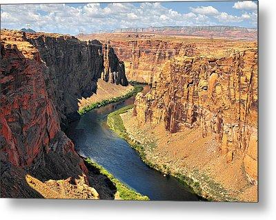 Colorado River At Marble Canyon Az Metal Print by Christine Till
