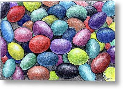 Colorful Beans Metal Print by Nancy Mueller