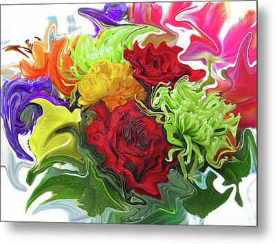 Colorful Bouquet Metal Print by Kathy Moll