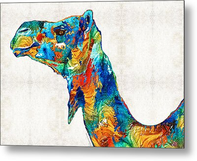 Colorful Camel Art By Sharon Cummings Metal Print by Sharon Cummings