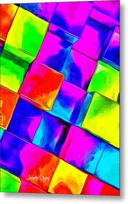 Colorful Cubes - Da Metal Print by Leonardo Digenio
